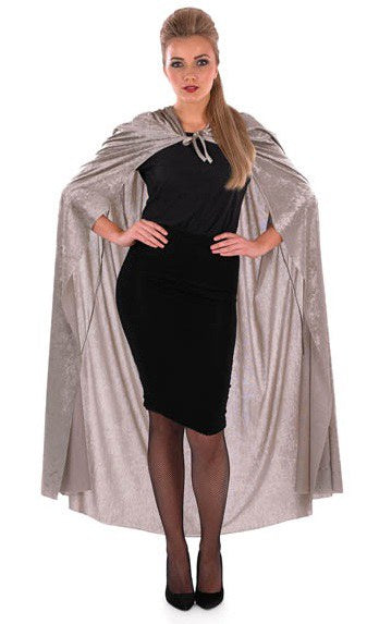 Grey Hooded Cape