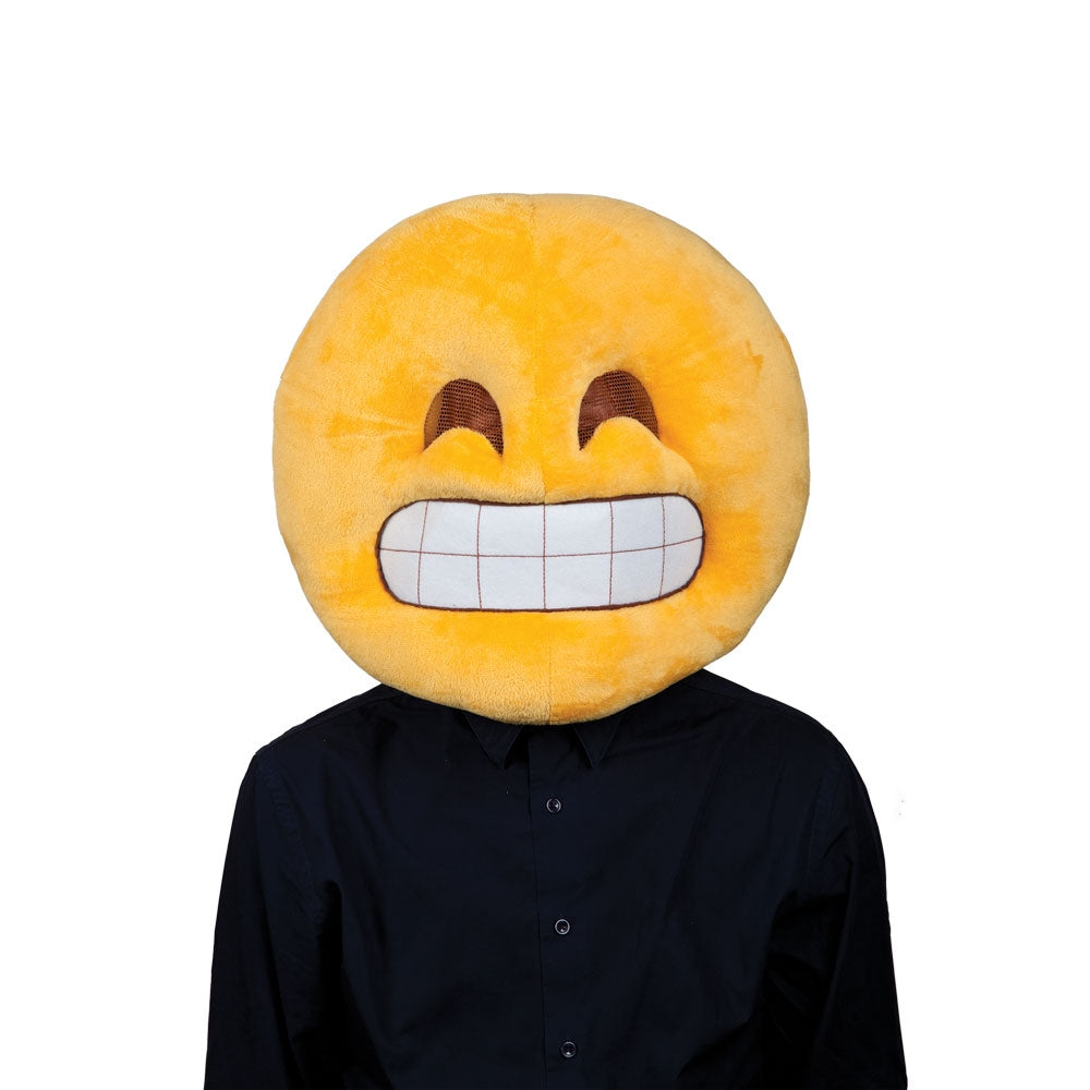 Grin Head Emoji Mask