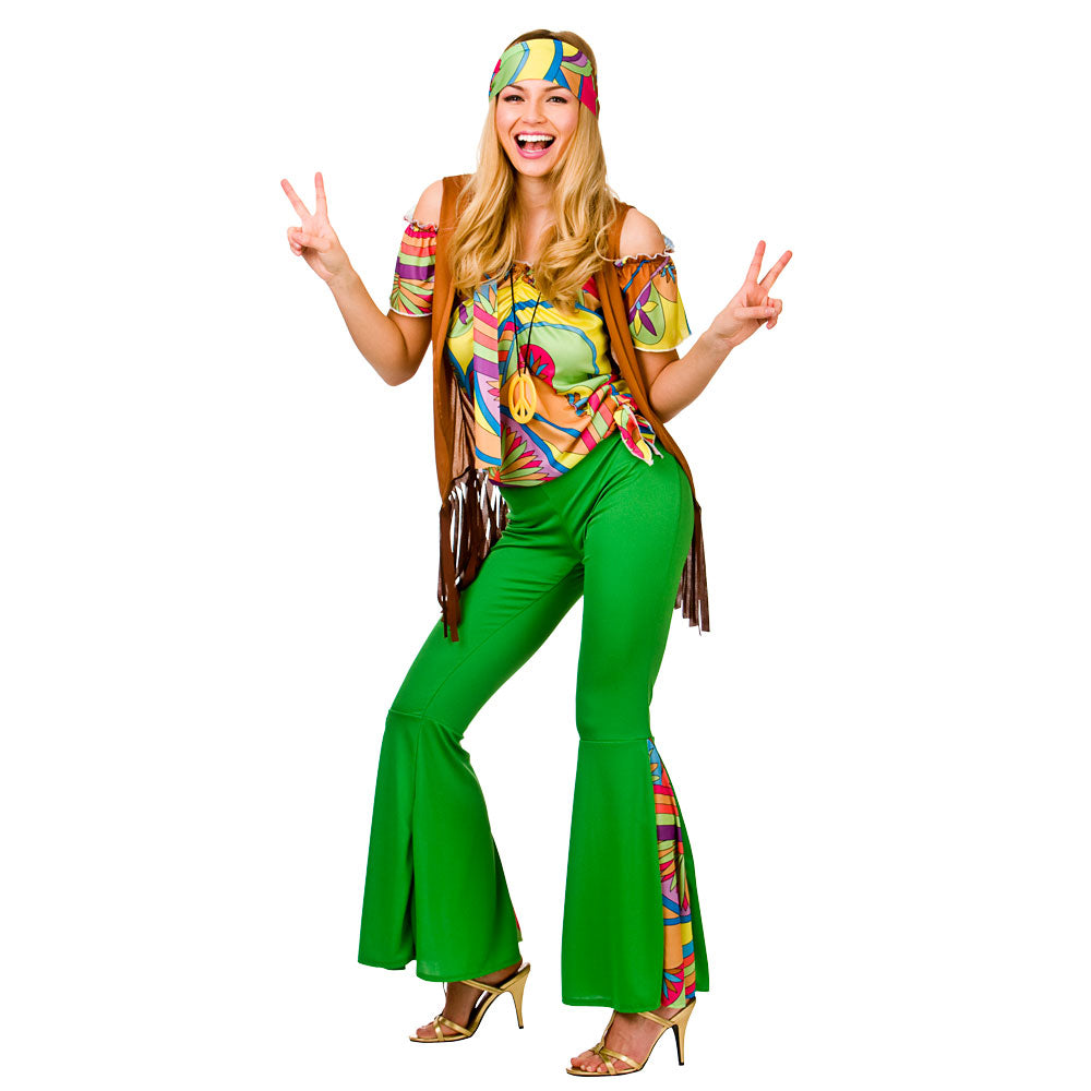 1960's Groovy Hippie Fancy Dress Costume for women.