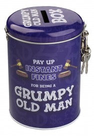 Grumpy Old Man Money Tins Funny Gifts