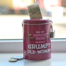 Grumpy Old woman Instant Fines Tin