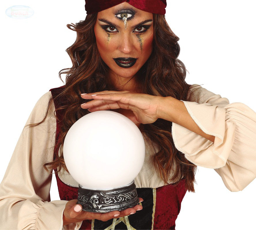 Gypsy or claivoyant crystal ball fancy dress prop.