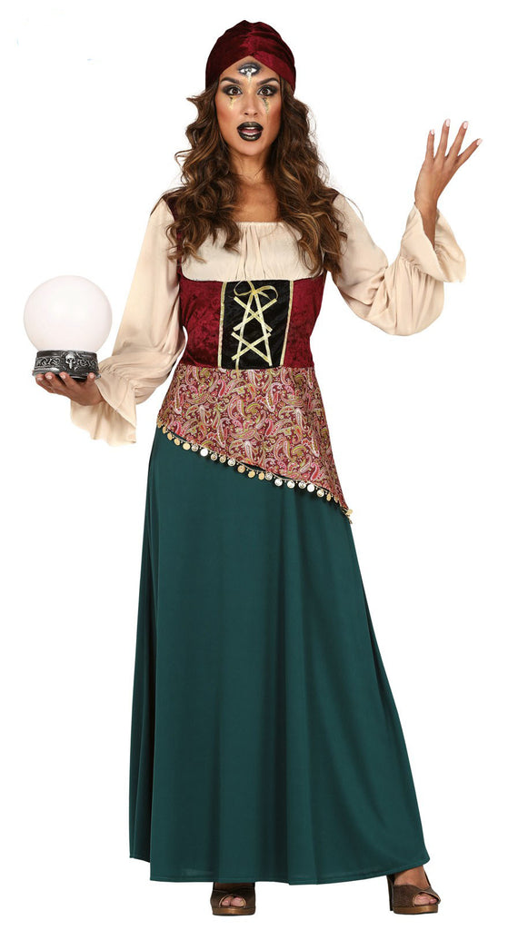 Gypsy Fortune Teller fancy dress costume for women.