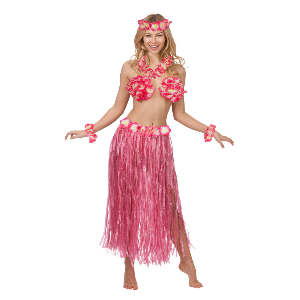 Hawaiian Party Girl Costume Pink