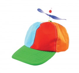 Helicopter Clown Hat with propeller on top