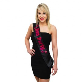 Hen Party Sash - Black/Pink Sashes