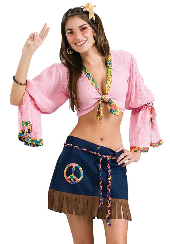 Sexy 1960's Hippie Chick Costume