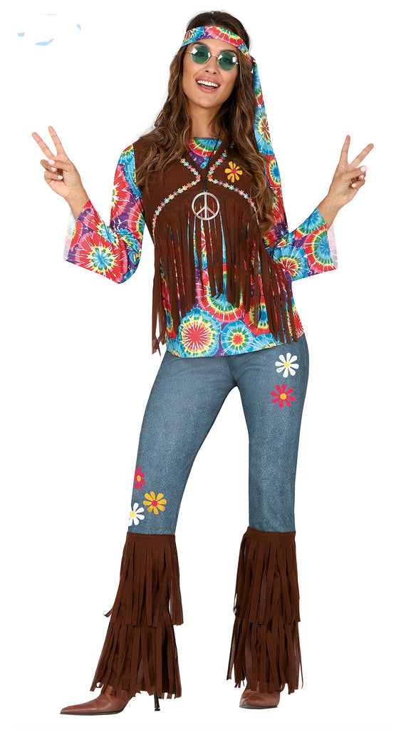 Adult Hippie Dippy Lady 1960's Costume for women.