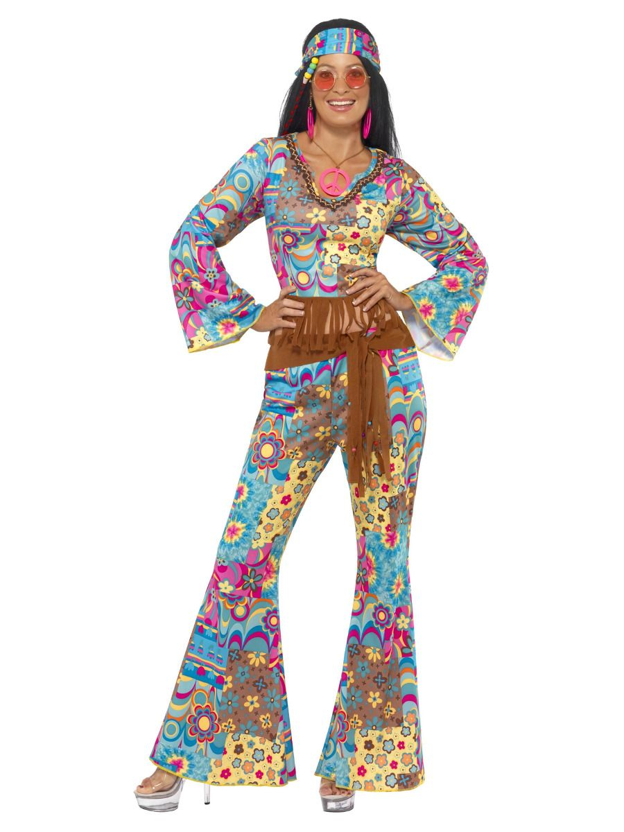 8977d062ff6316 Hippy Flower Power Ladies 1960's Costume