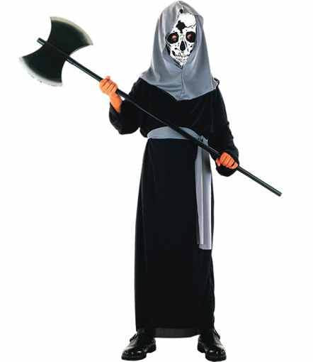Horror Toga Skull Hood Childs Hallloween Costume