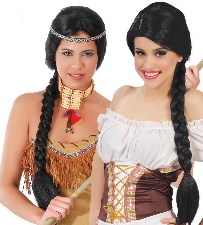 Indian and Medieval Maid Wig for women