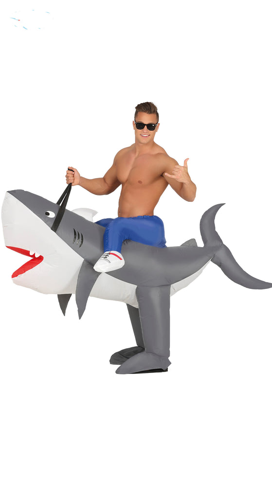 Inflatable Ride On Shark Costume