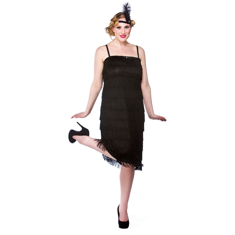1920s Flapper Costume Jazzy Black