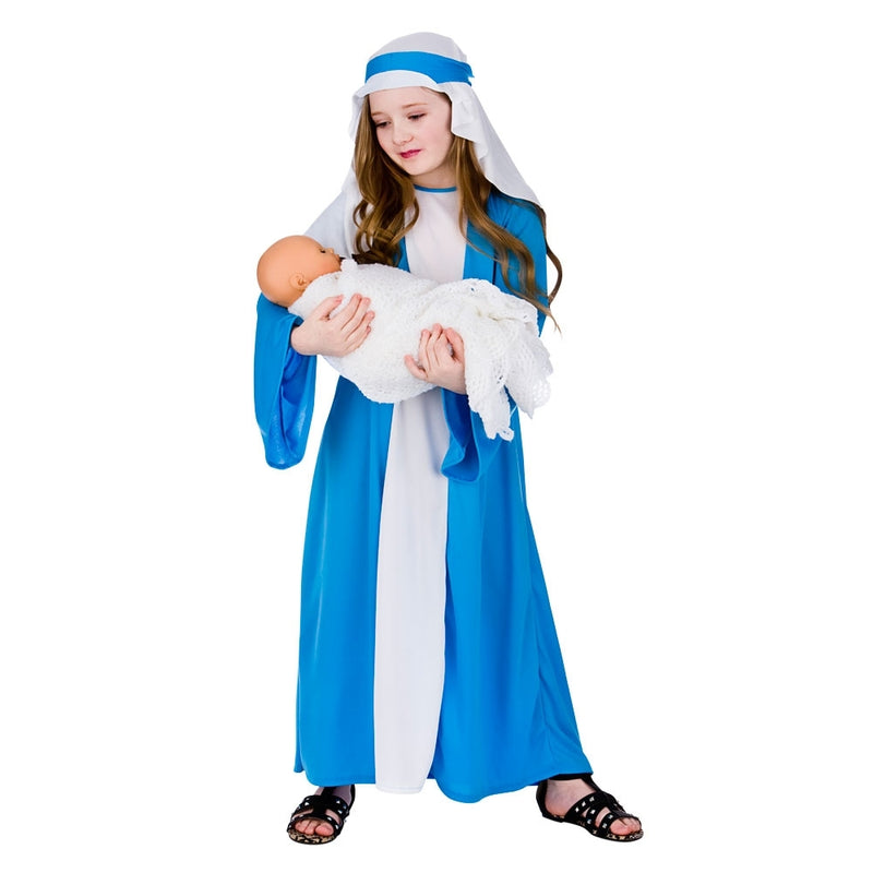 Child's Mary Christmas Fancy Dress Costume for nativity.