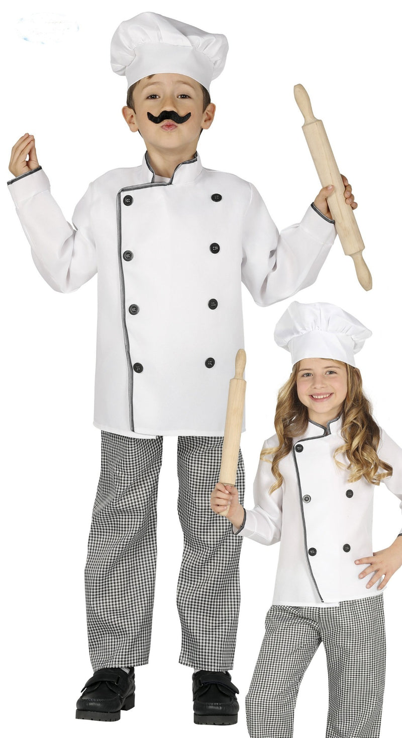 Kids Chef Fancy Dress Costume For Boys Or Girls