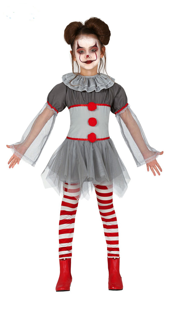 Kids Killer Clown IT Costume Girl