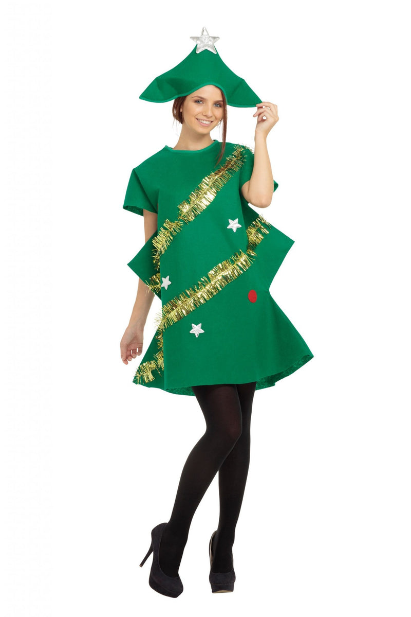 Ladies Christmas Tree Fancy Dress Costume