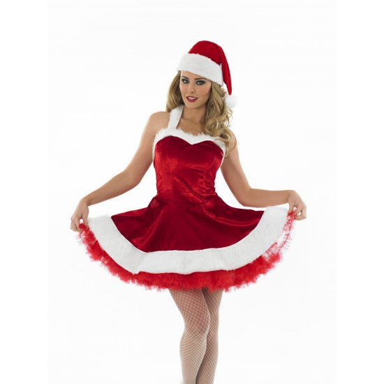 Ladies Sexy Tutu Santa Christmas Costume