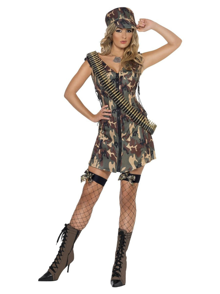 Ladies Army Girl Fancy Dress outfit