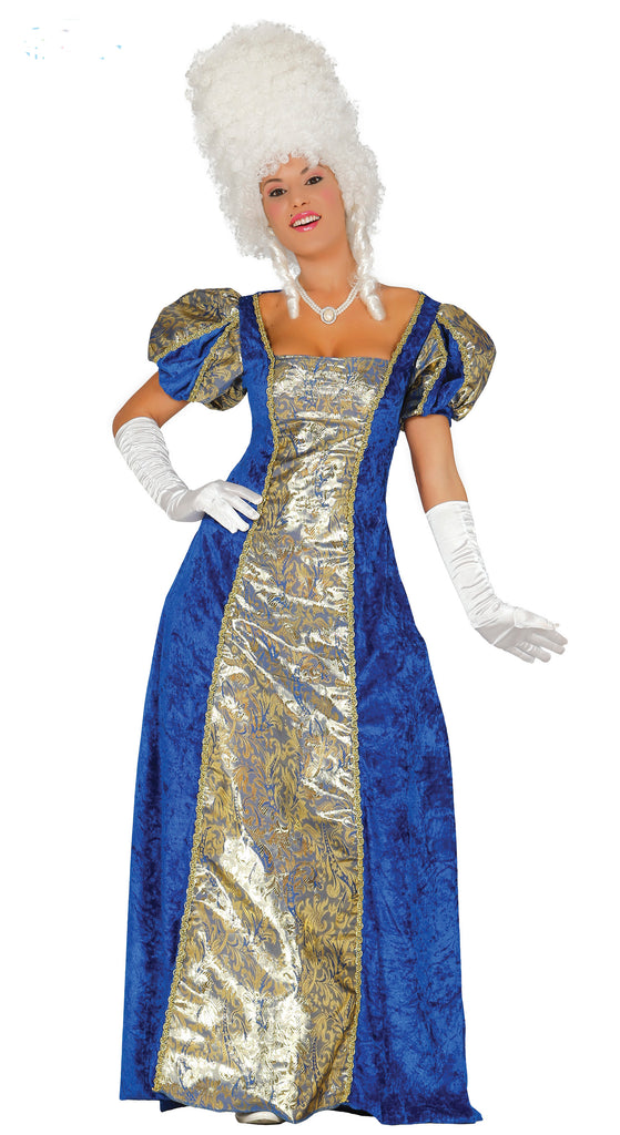 Ladies Empress Marie Antoinette fancy dress costume.