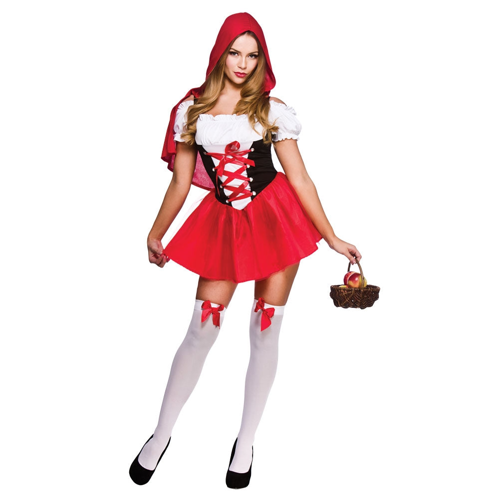 Ladies Little Red Riding Hood Fancy Dress Costume
