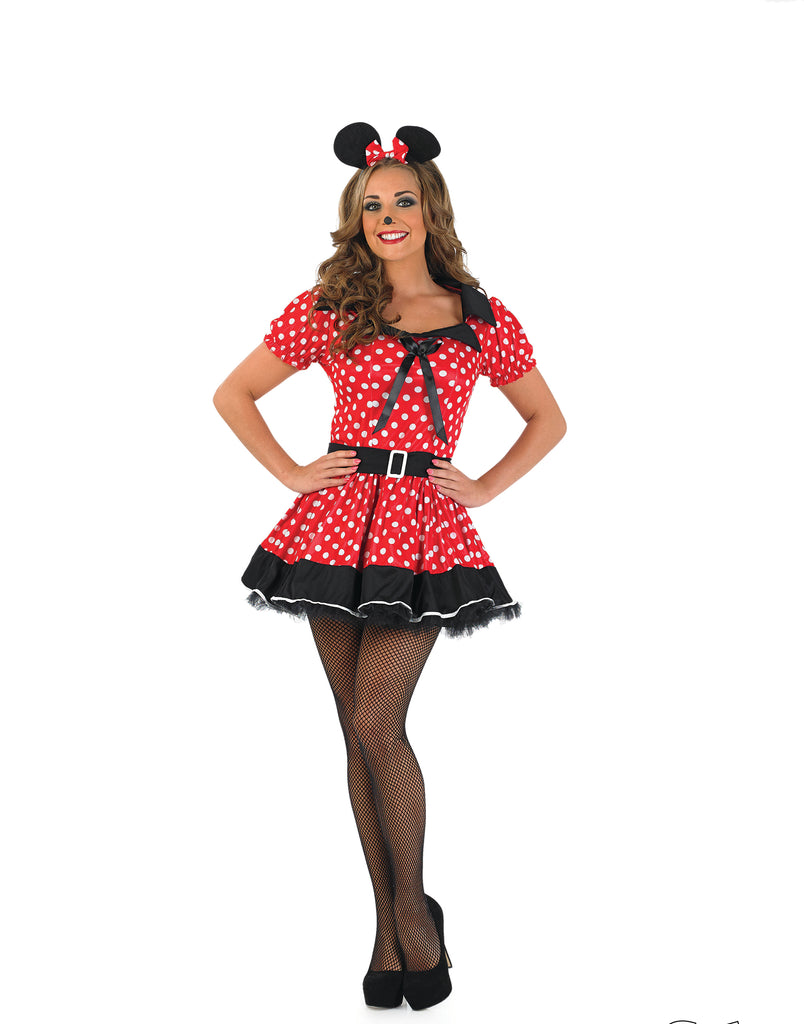Ladies Missy Minnie Mouse fancy dress outfit.