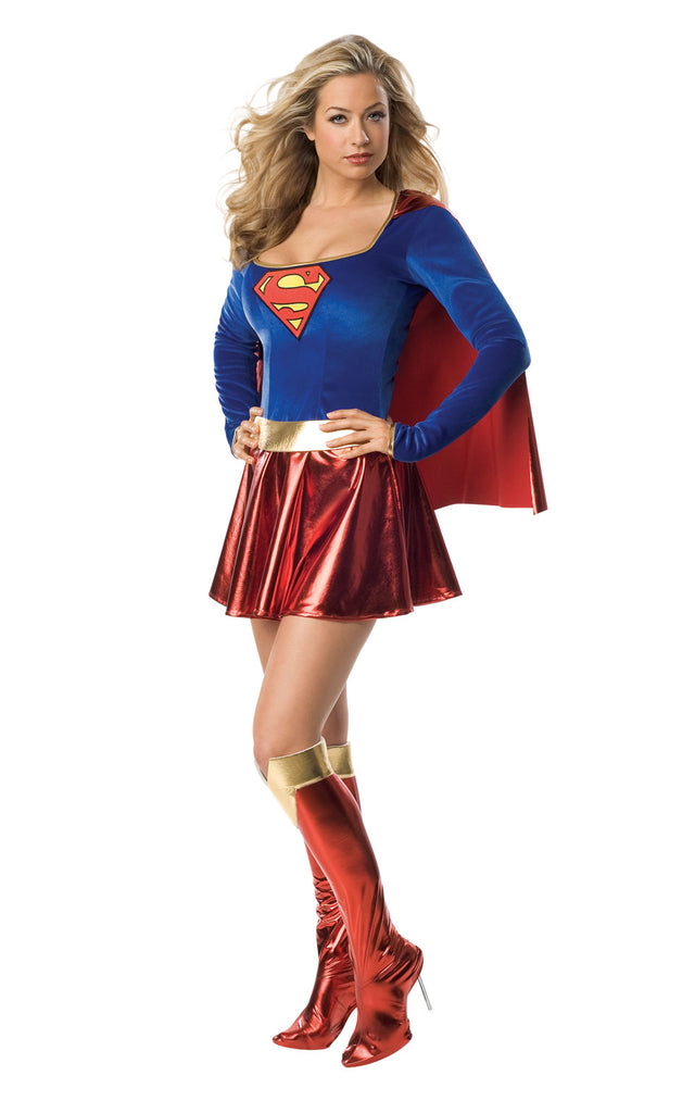 Ladies Sexy Supergirl Fancy Dress Costume