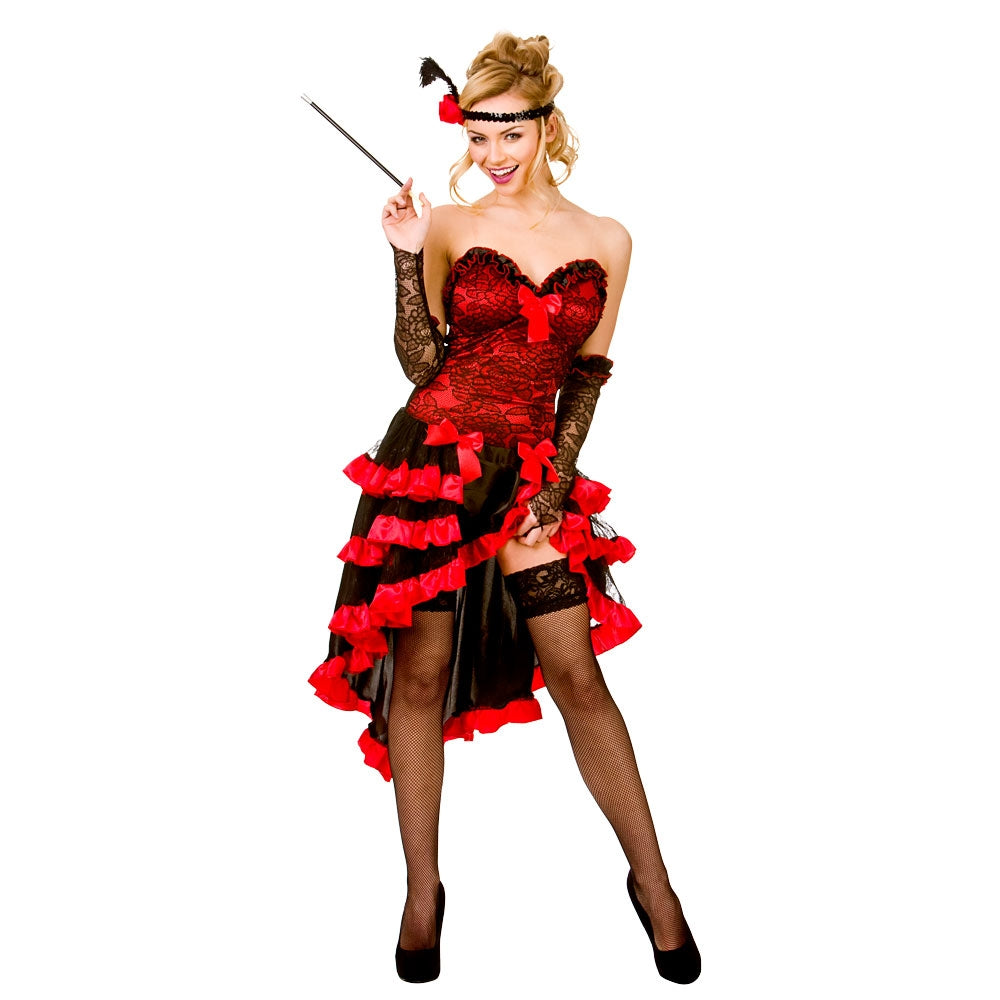 Kick up your heels and Can Can and show them what you've got in our in this ladies Wild West Showgirl costume.