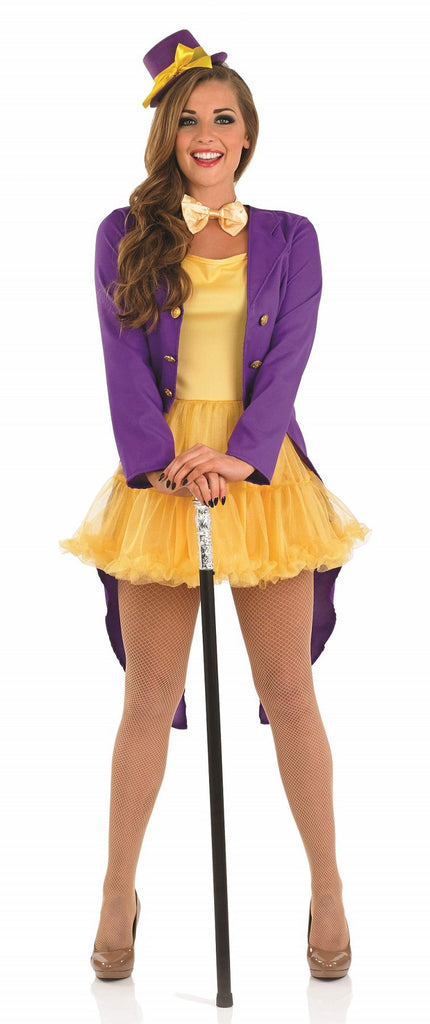 Lady Factory Owner Willy Wonka Costume