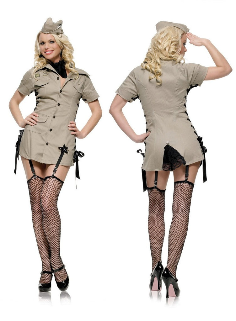 Leg Avenue Pin Up Army Girl Costume