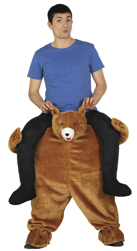 This funny adult carrying Bear outfit is easy to wear and is super comfortable