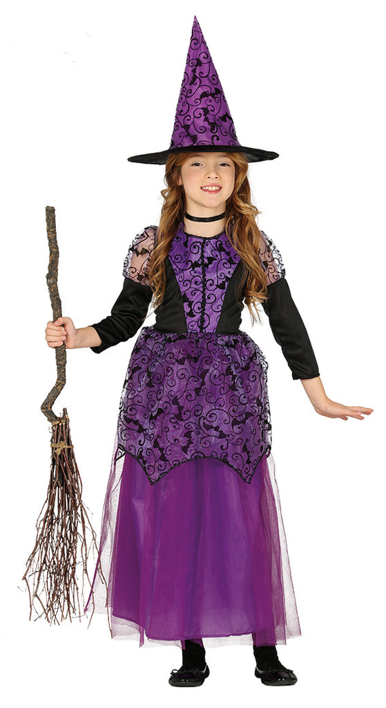 Lilac Witch Costume Girls