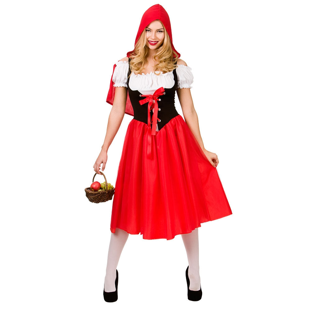 Ladies Little Red Riding Hood Costume longer skirt