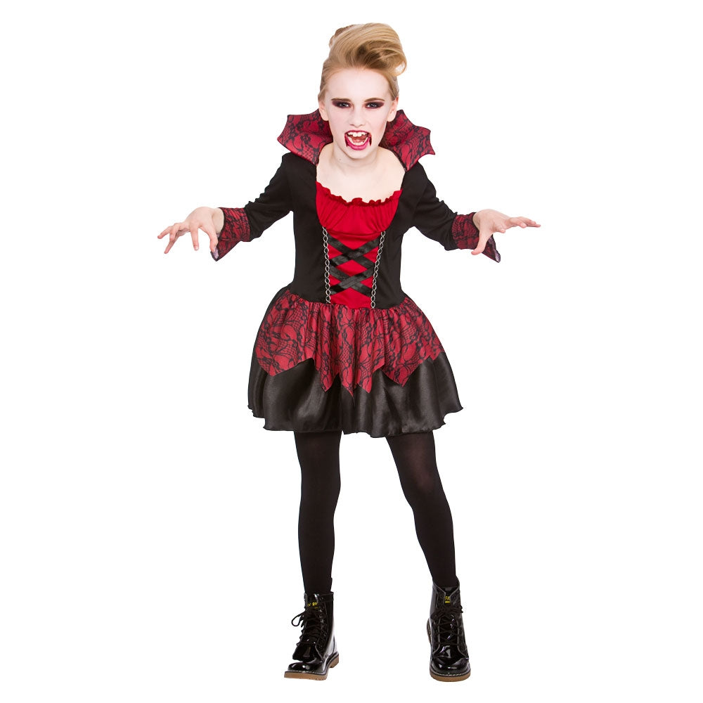 Girls Little Vampiress Vampire Costume
