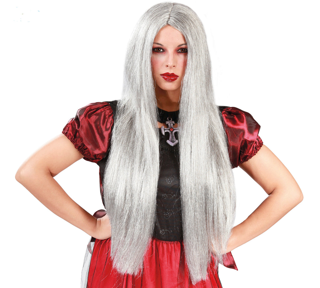Women's Long Grey Wig