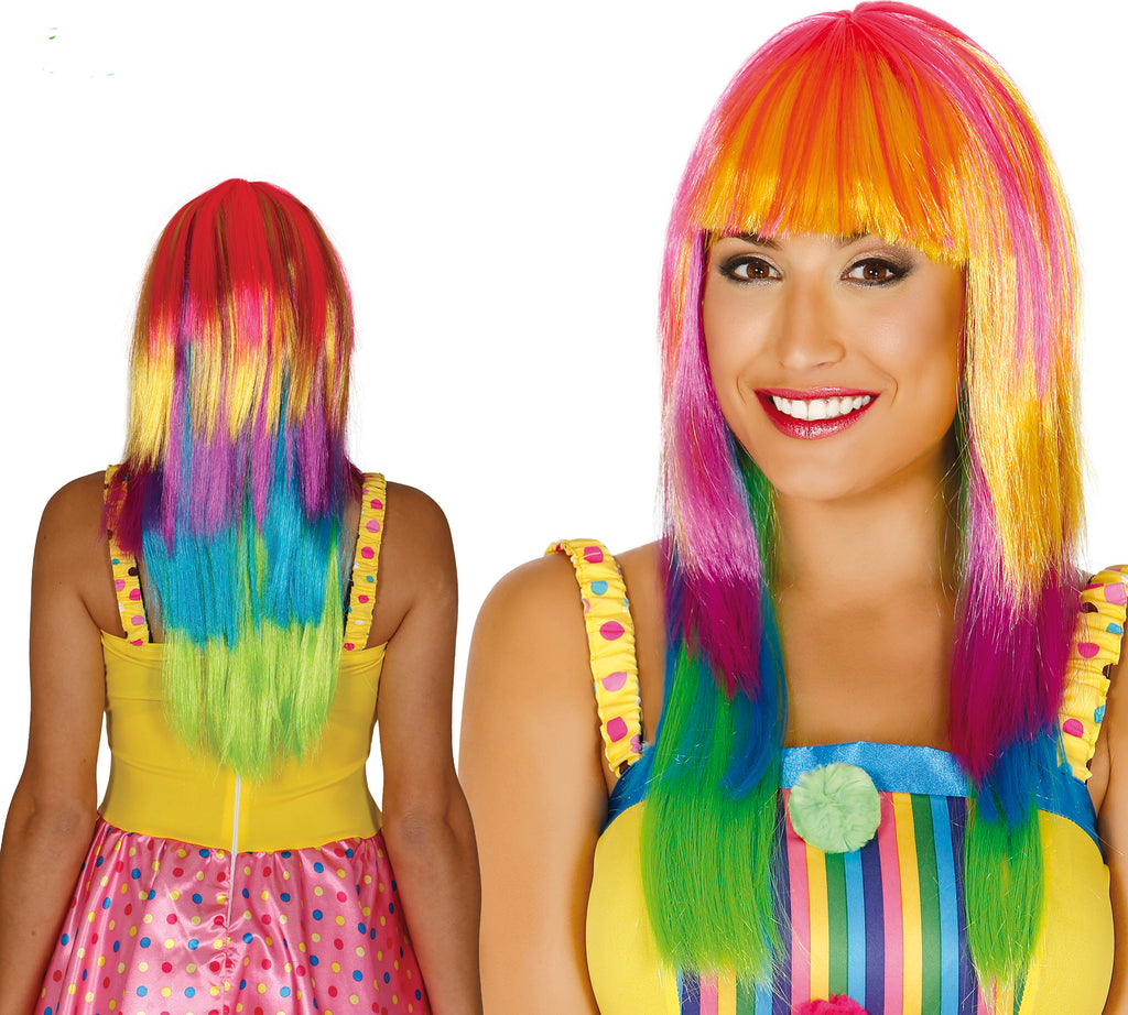 Long Multicoloured Wig