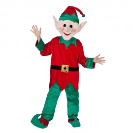 Mascot Santas Elf Helper Adults Christmas Unisex Costume