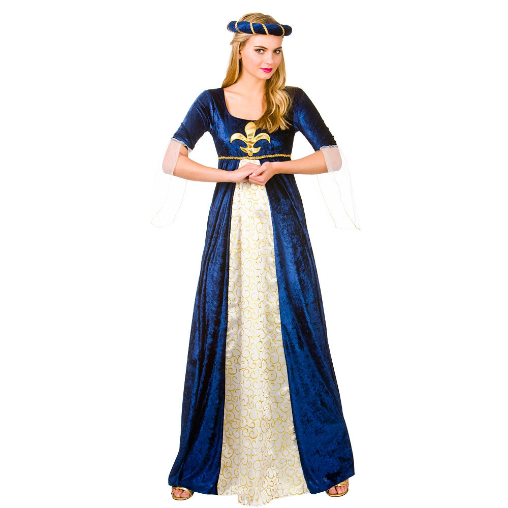 Ladies Medieval Thrones Maid Marion Long Gown Fancy Dress Historical Costume