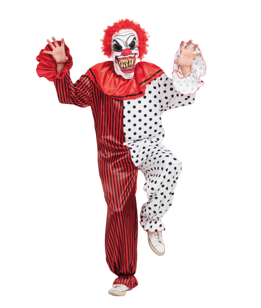 Men's Manic Horror Clown Scary Costume Adult