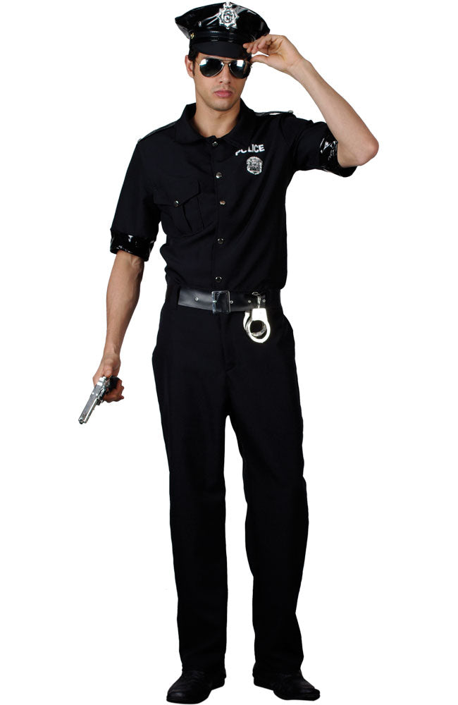 Men's New York Cop Fancy Dress Costume