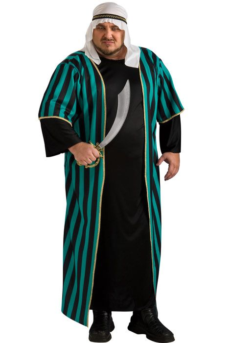 Men's Plus Size Arab Sheik Costume