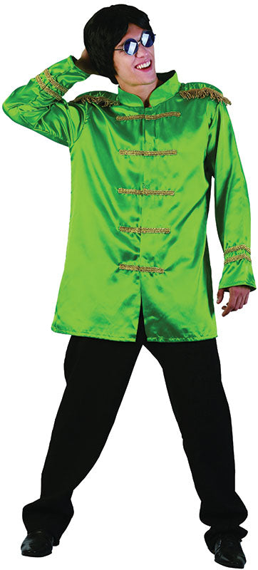Mens Sergeant Pepper Green Beatles Costume