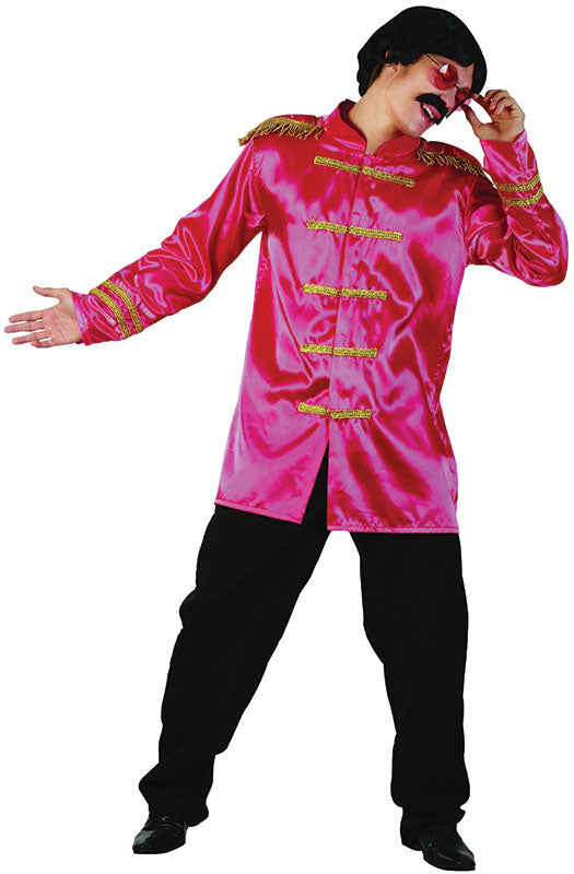 Mens Sergeant Pepper Pink Beatles Costume