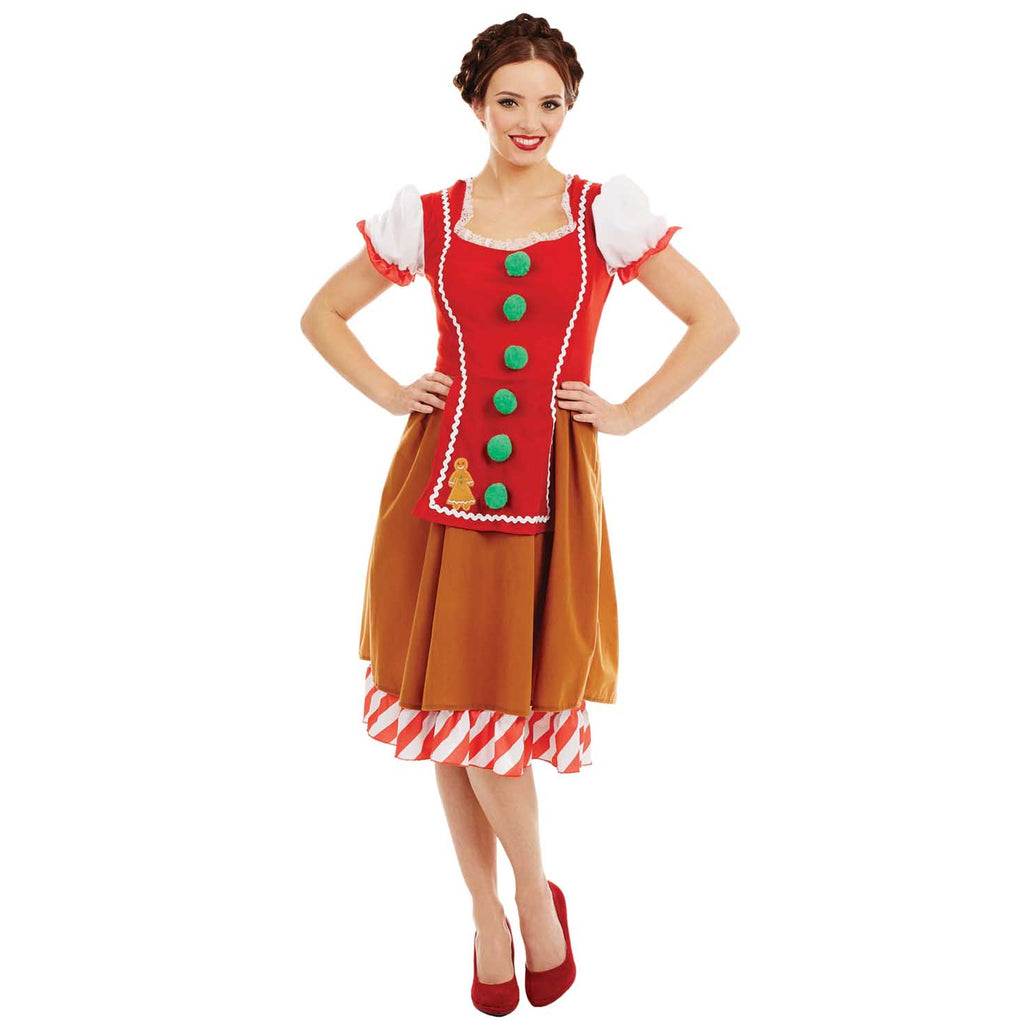 Miss Gingerbread Costume Ladies Christmas Outfit