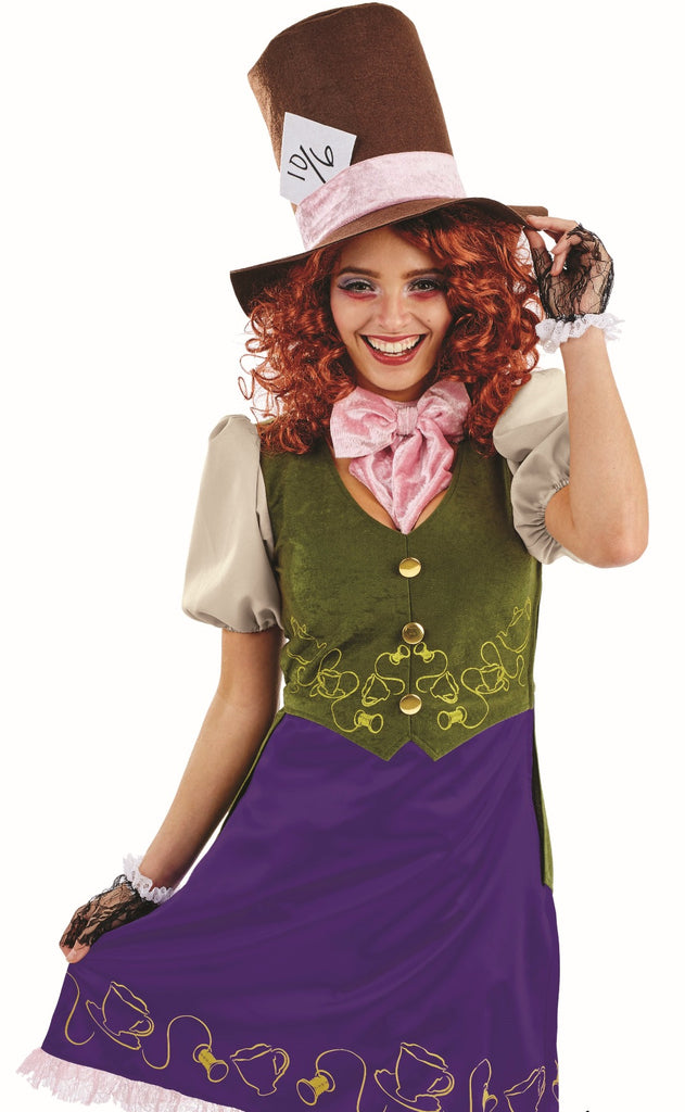 Ladies Miss Mad Hatter Costume