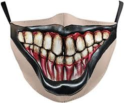 Monster Mouth Halloween Reusable Face Mask