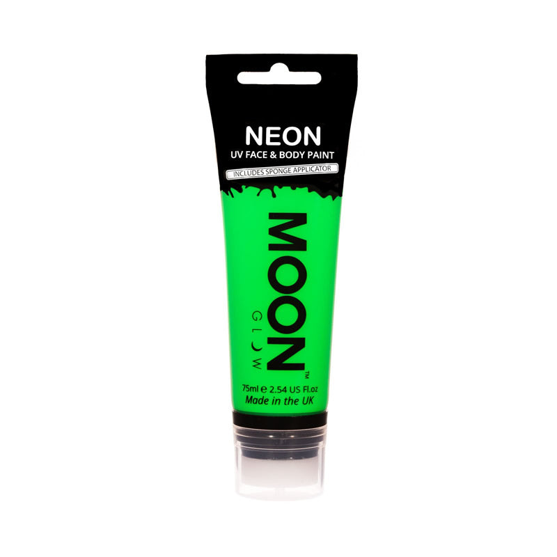 Moon Glow 75ml Neon UV Face & Body Paint Green