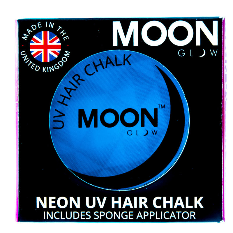 Moon Glow 3.5g UV Neon Hair Chalk Intense Blue