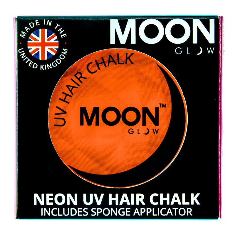 Moon Glow 3.5g UV Neon Hair Chalk Intense Orange