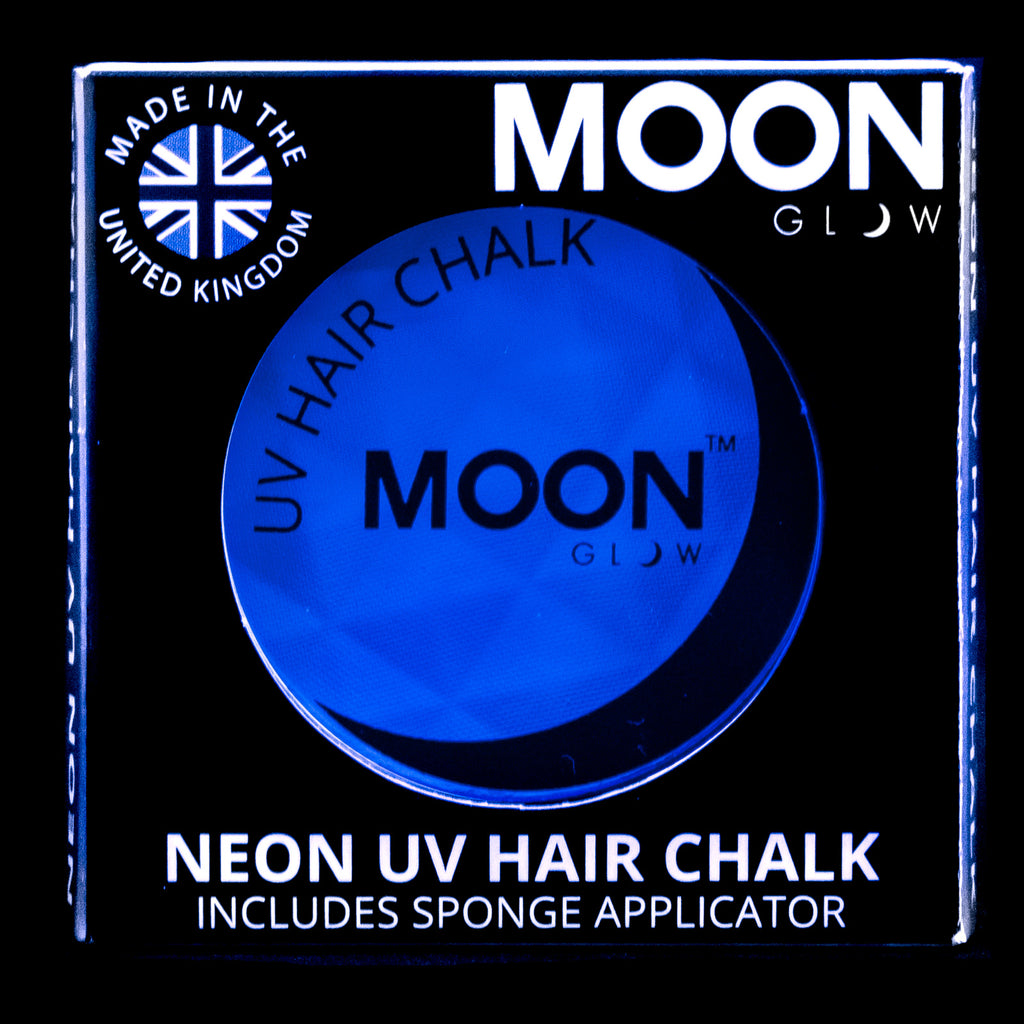 Moon Glow UV Neon Hair Chalk Intense Blue